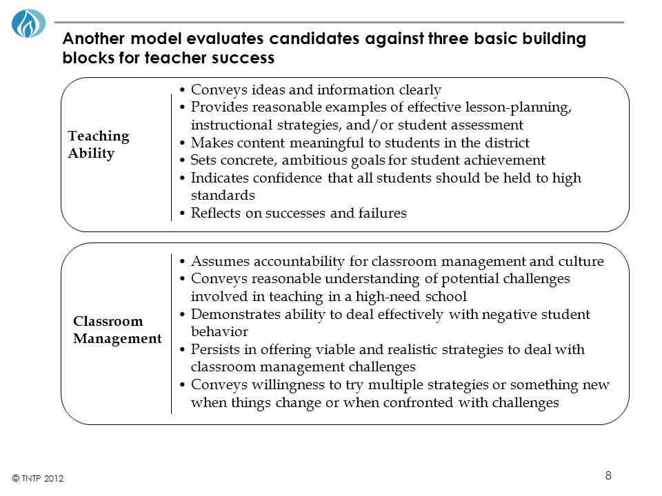 Assumes accountability for classroom management and culture