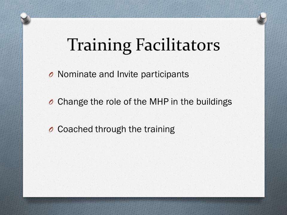 Training Facilitators