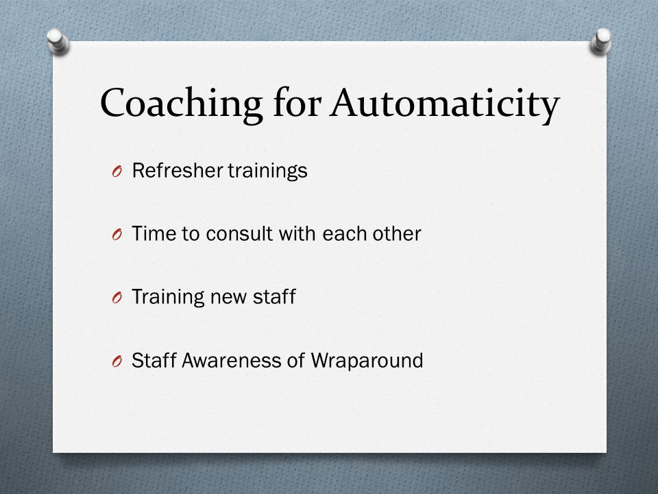 Coaching for Automaticity