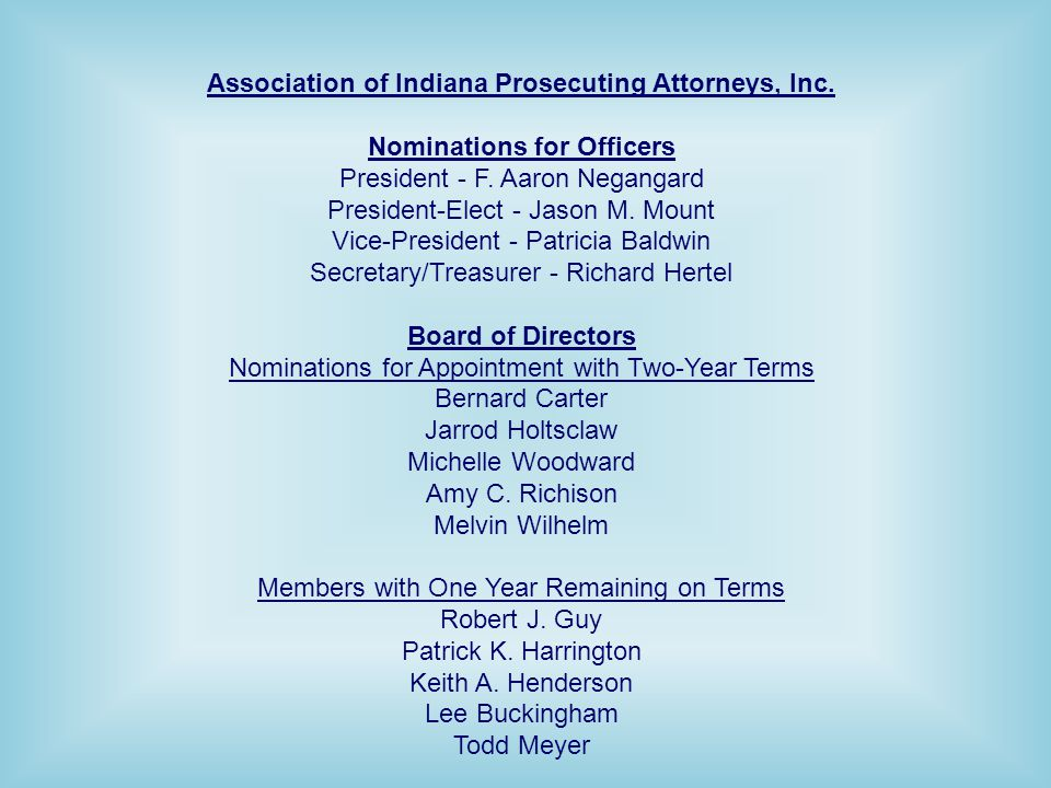 Association of Indiana Prosecuting Attorneys, Inc.