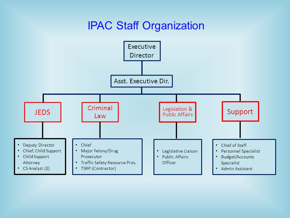 IPAC Staff Organization