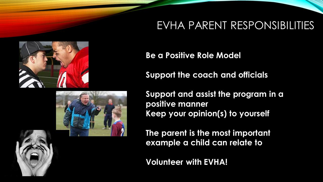 EVHA Parent Responsibilities