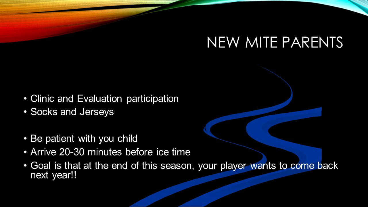 New Mite Parents Clinic and Evaluation participation Socks and Jerseys