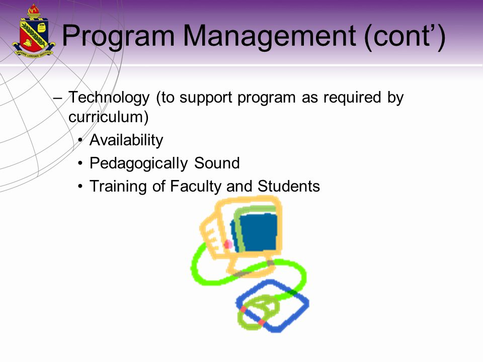 Program Management (cont')