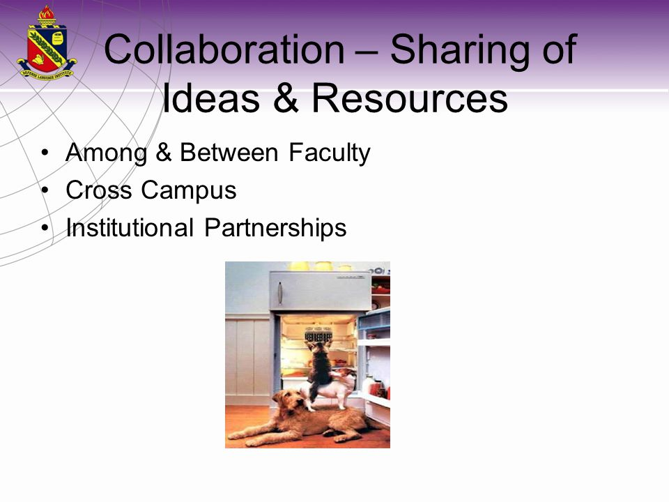 Collaboration – Sharing of Ideas & Resources