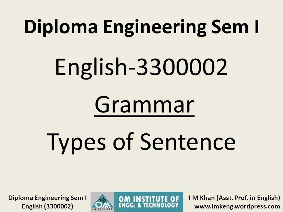 Diploma Engineering Sem I