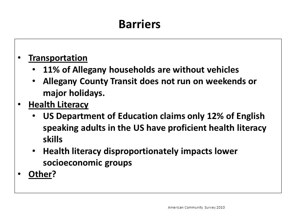 Barriers Transportation