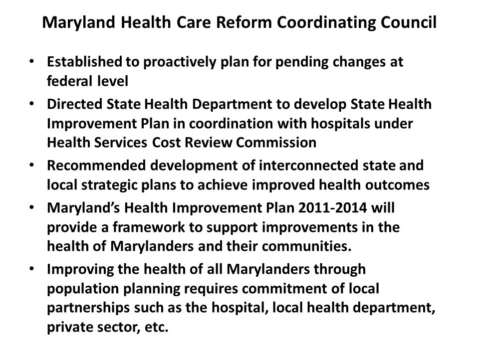 Maryland Health Care Reform Coordinating Council