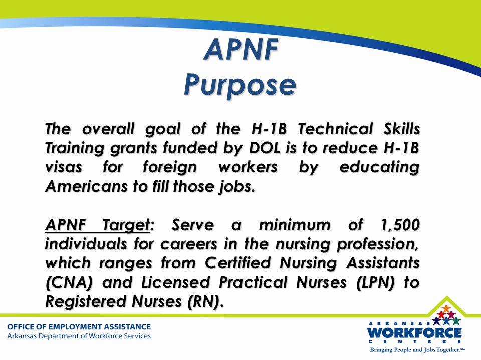 APNF Purpose