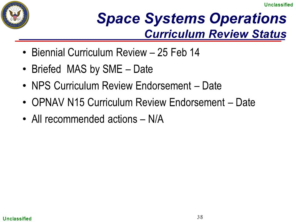 Space Systems Operations