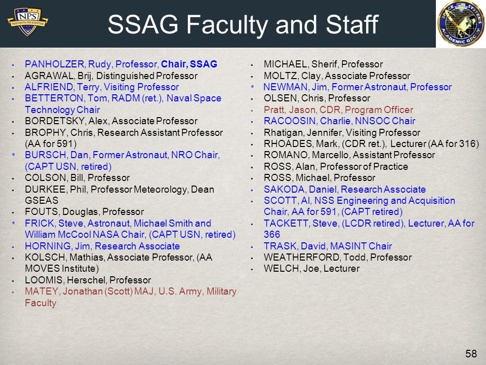 SSAG Faculty and Staff PANHOLZER, Rudy, Professor, Chair, SSAG