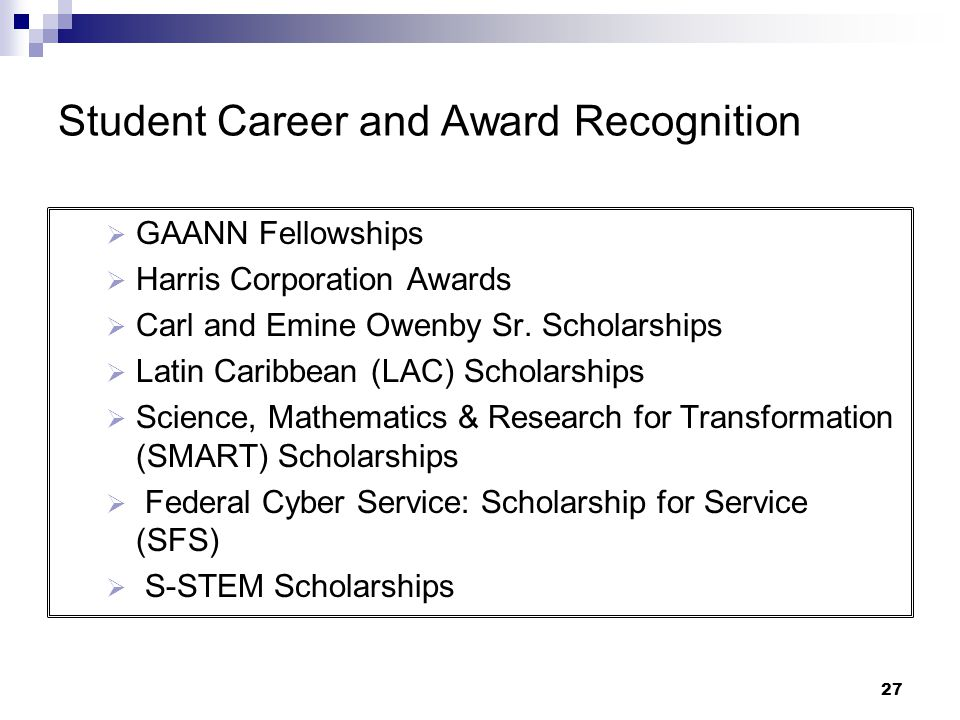 Student Career and Award Recognition