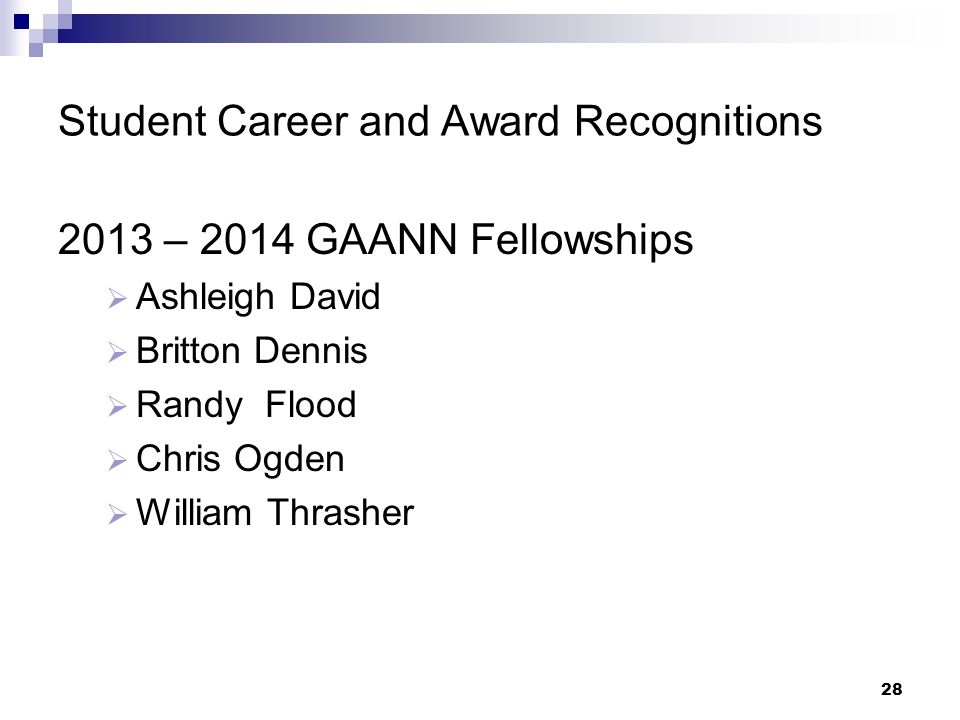Student Career and Award Recognitions