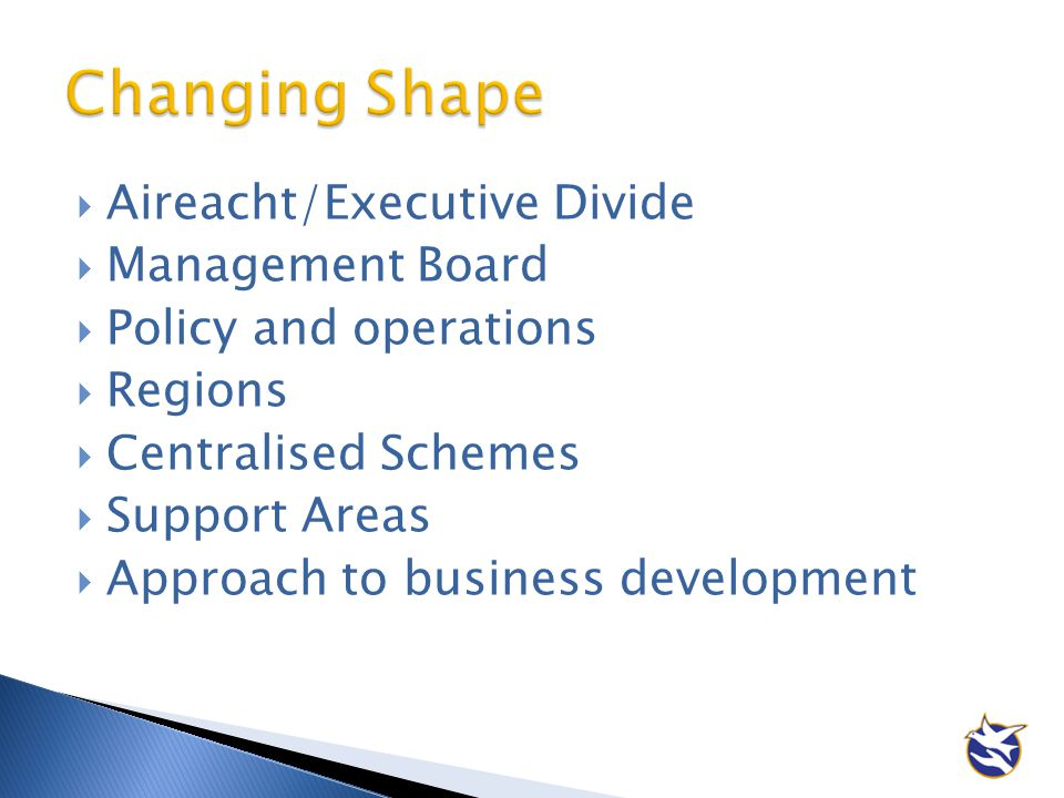 Changing Shape Aireacht/Executive Divide Management Board