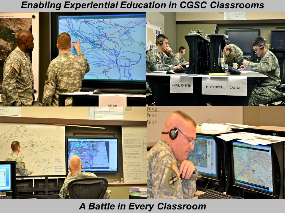 Enabling Experiential Education in CGSC Classrooms