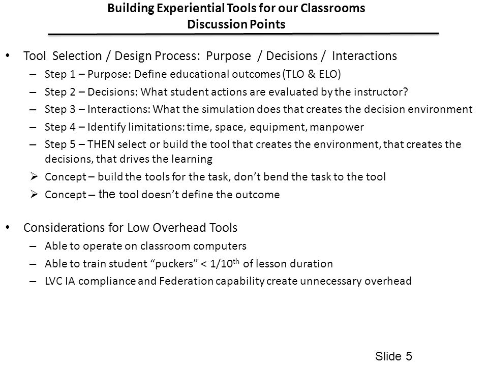 Building Experiential Tools for our Classrooms