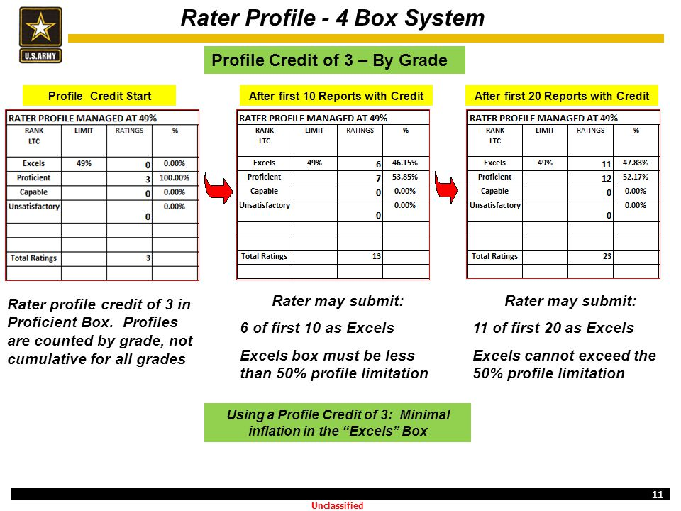 Rater Profile - 4 Box System