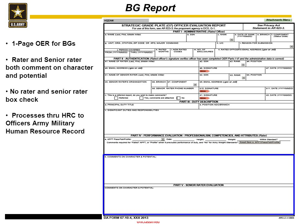 BG Report 1-Page OER for BGs