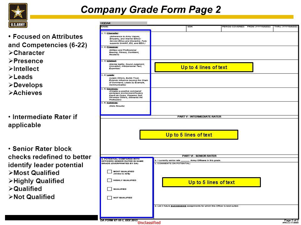 Company Grade Form Page 2
