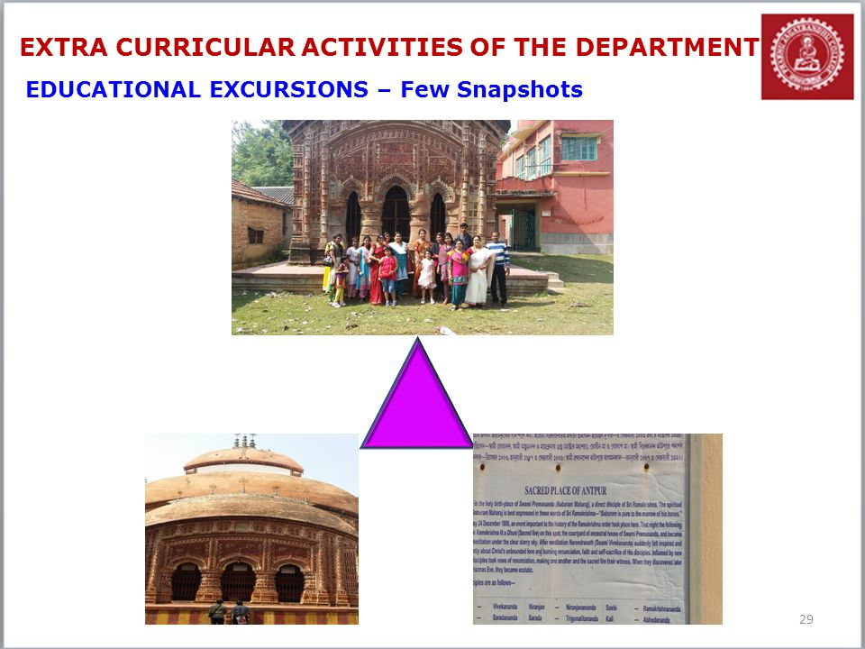 EXTRA CURRICULAR ACTIVITIES OF THE DEPARTMENT