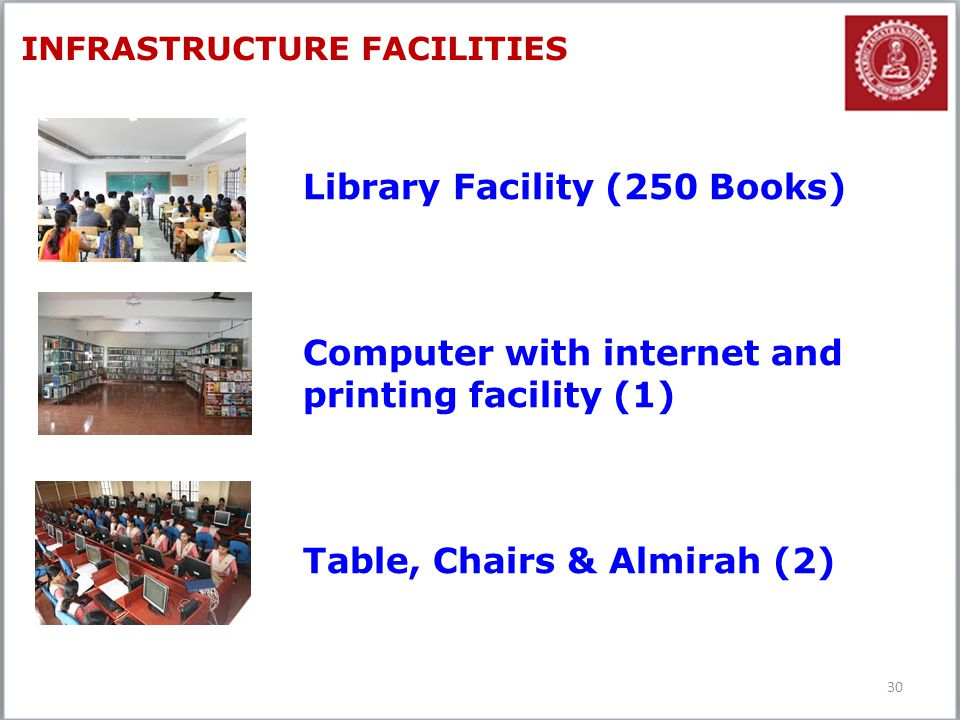 Library Facility (250 Books)