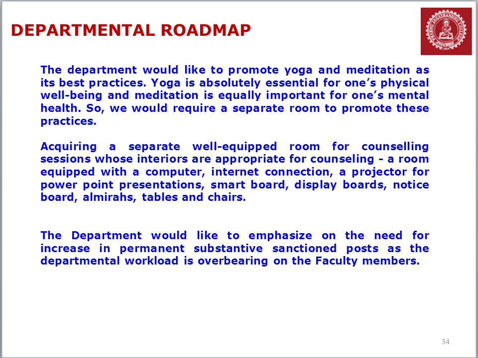 DEPARTMENTAL ROADMAP