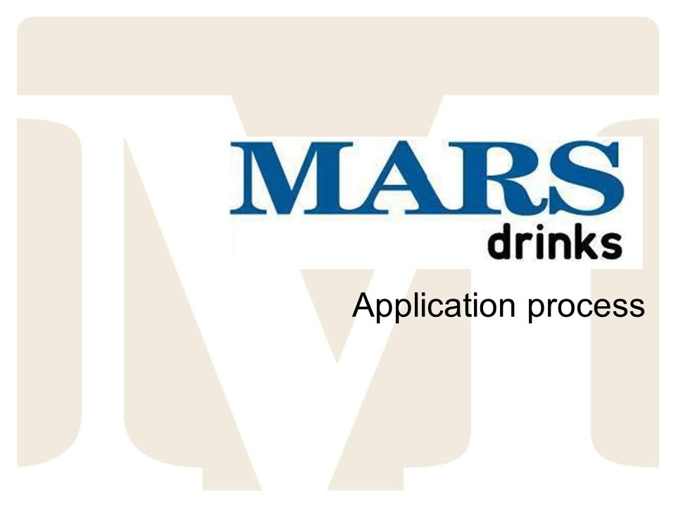 Total Rewards at Mars Application process