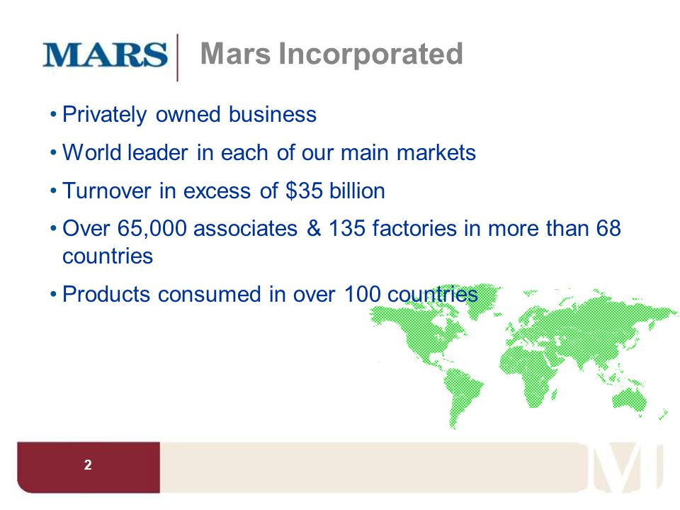 Mars Incorporated Privately owned business