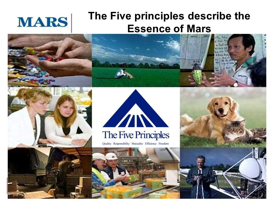 The Five principles describe the Essence of Mars