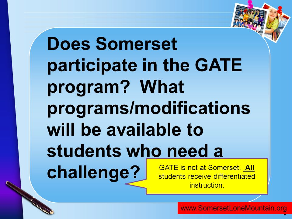 Does Somerset participate in the GATE program