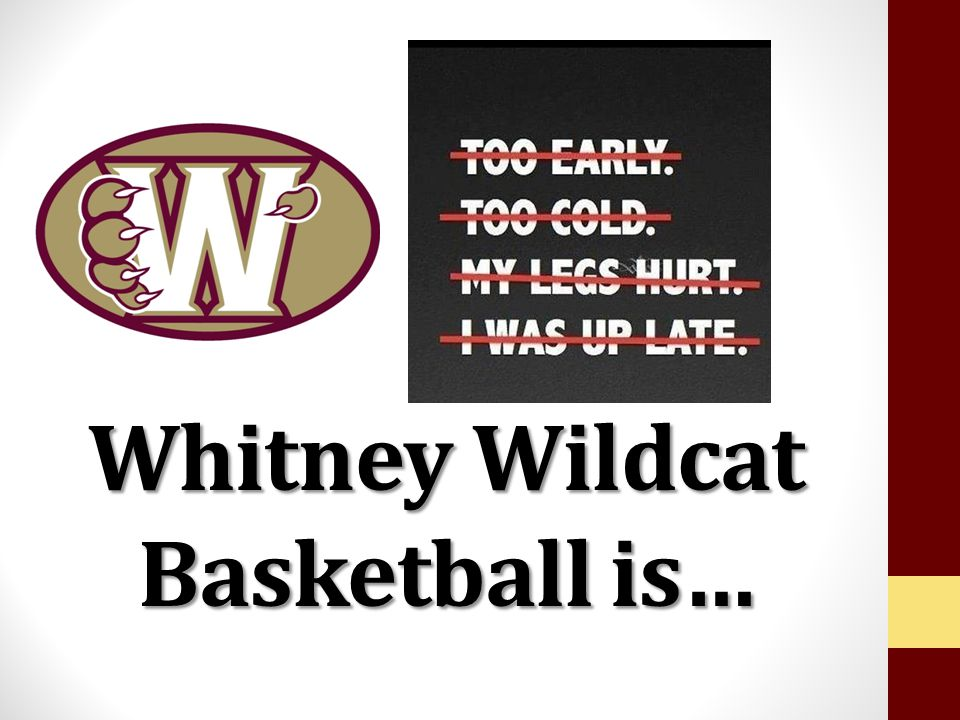 Whitney Wildcat Basketball is…
