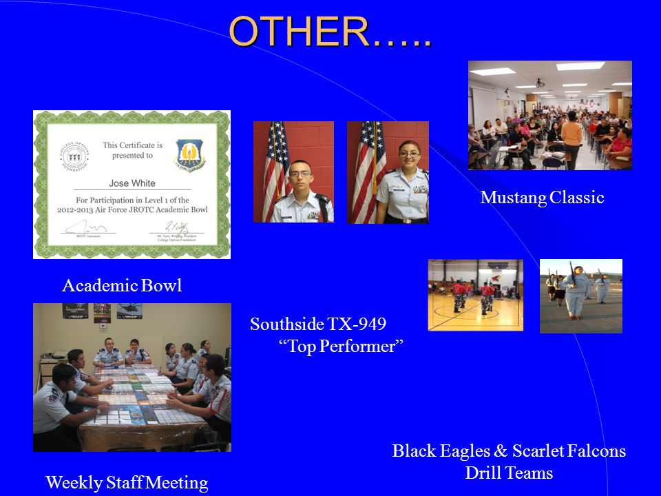Black Eagles & Scarlet Falcons Drill Teams