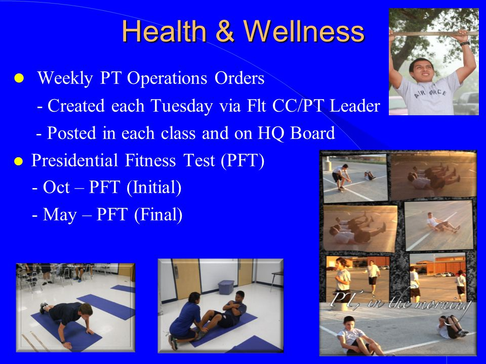 Health & Wellness Weekly PT Operations Orders