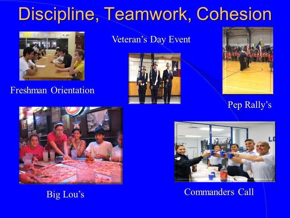 Discipline, Teamwork, Cohesion
