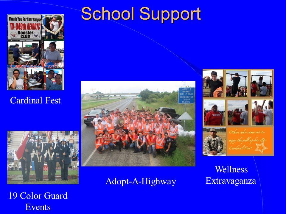 School Support Cardinal Fest Wellness Extravaganza Adopt-A-Highway