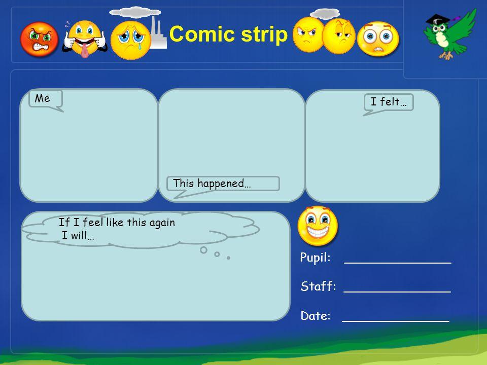 Comic strip Pupil: ______________ Staff: ______________