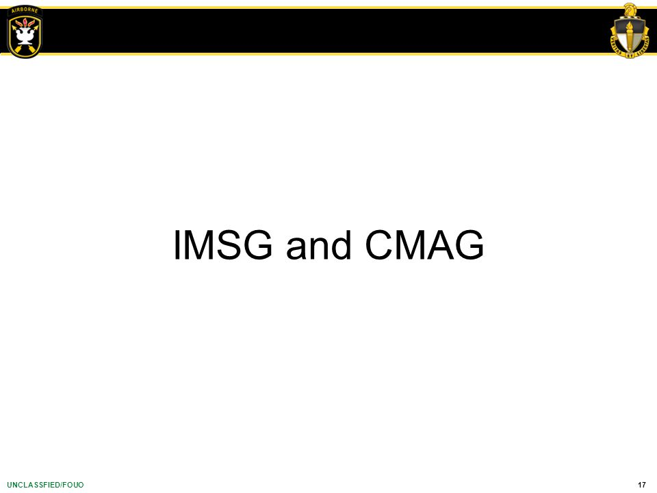 IMSG and CMAG