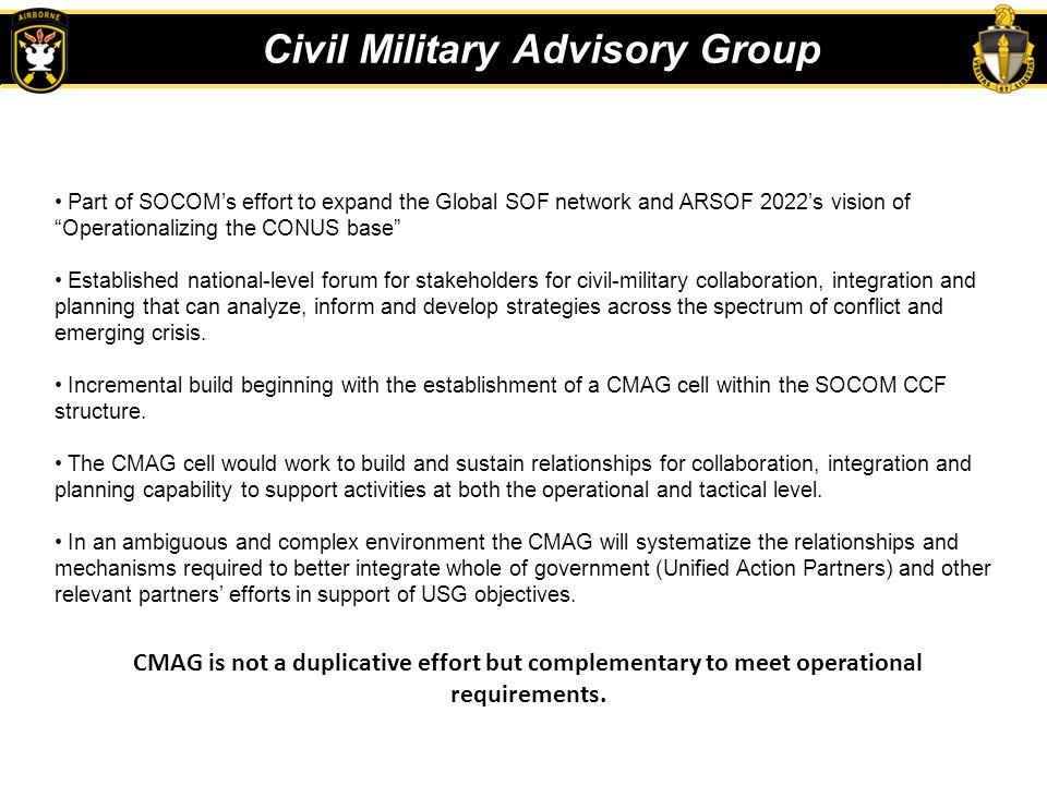 Civil Military Advisory Group