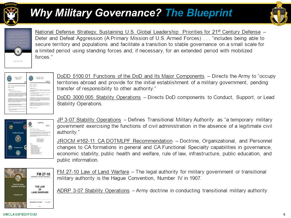 Why Military Governance The Blueprint