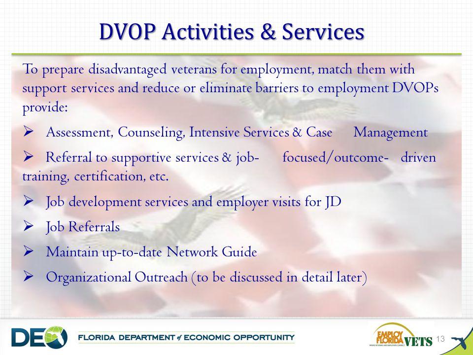 DVOP Activities & Services