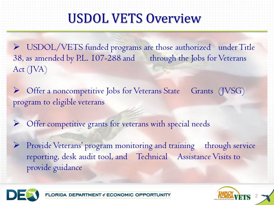 USDOL VETS Overview