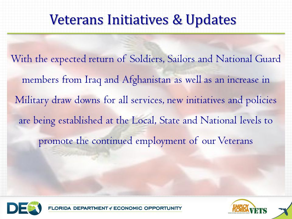 Veterans Initiatives & Updates