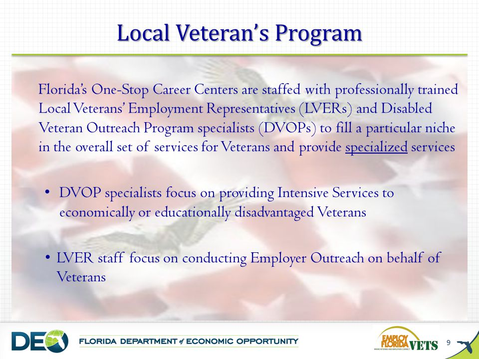 Local Veteran's Program
