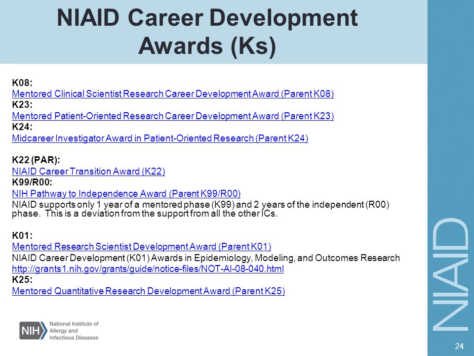 NIAID Career Development Awards (Ks)