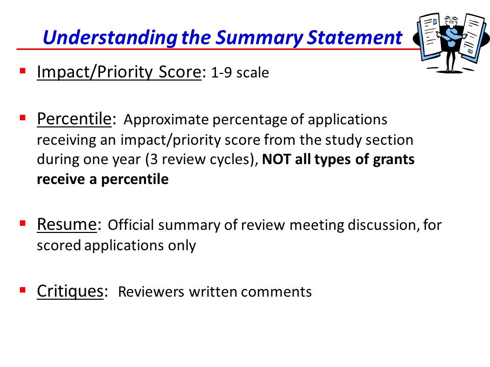 Understanding the Summary Statement