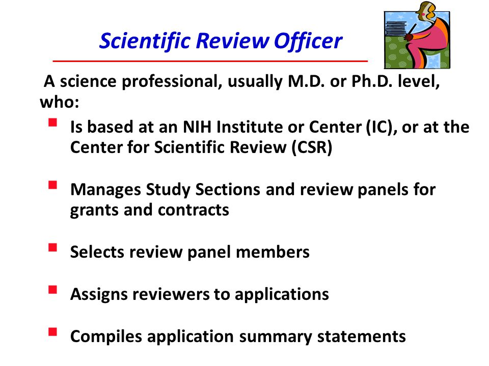 Scientific Review Officer