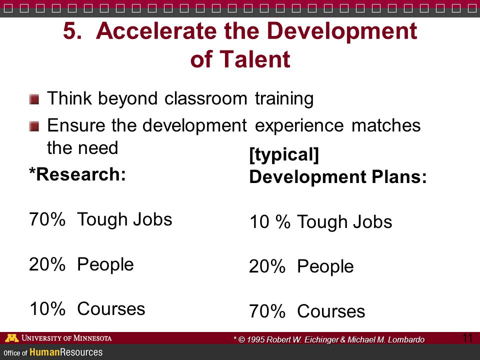 5. Accelerate the Development of Talent