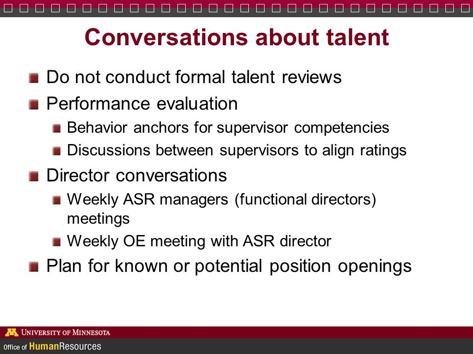 Conversations about talent