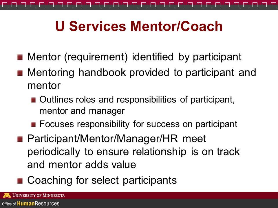 U Services Mentor/Coach