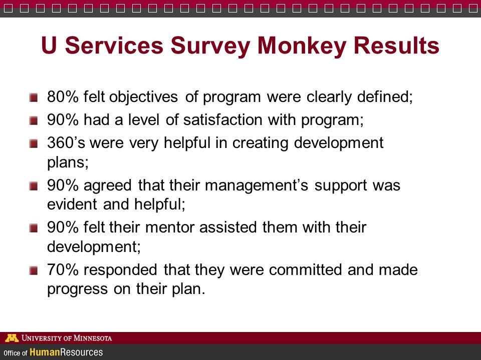 U Services Survey Monkey Results